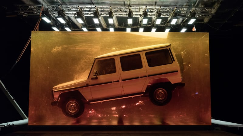 Mercedes-Benz will greet Detroit Auto Show goers with a G-Class encased in massive amber block