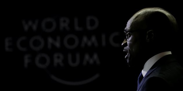 Finance Minister Malusi Gigaba speaks to journalists at the World Economic Forum on Africa 2017 meeting in Durban, South Africa, May 3, 2017.