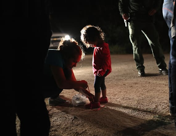 Girl separated from aunt had diaper changed by kids
