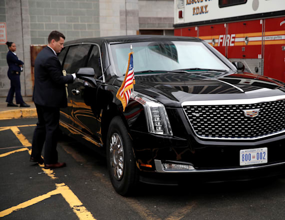 Trump's new limo comes with fridge of his blood type