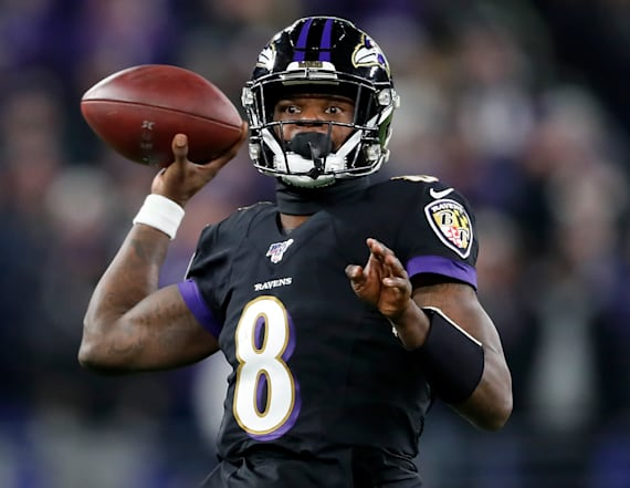 Lamar Jackson sets record with his arm, too