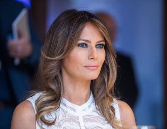 Melania Trump steals the show in white Elie Saab