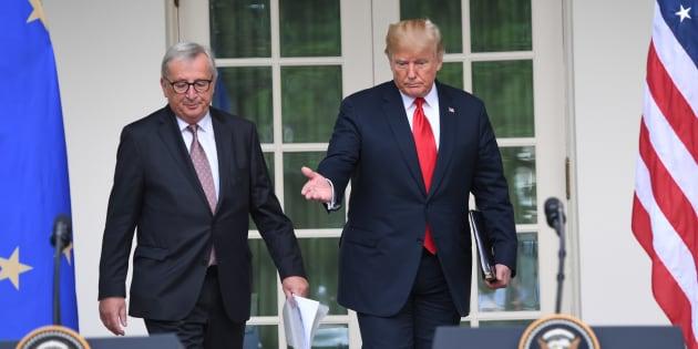 Donald Trump et Jean-Claude Juncker trouvent un accord pour atténuer la guerre commerciale entre États-Unis et UE.