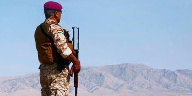 Poster de Peshmerga, de Bernard-Henri Lévy, documentaire sorti en 2016.