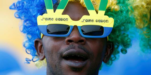 Un supporteur du Gabon au Stade de l'Amitié, Libreville, Gabon, le 14 janvier 2017. REUTERS/Mike Hutchings