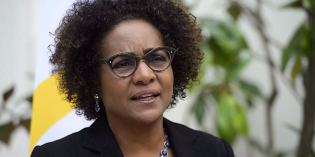 Michaelle Jean, Secretary General of the Organisation Internationale de la Francophonie, is shown at OIF Headquarters in Paris, France on April 16, 2018.