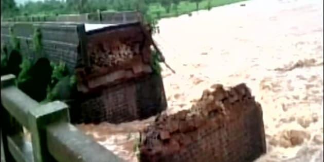 The bridge was situated near Mahad.