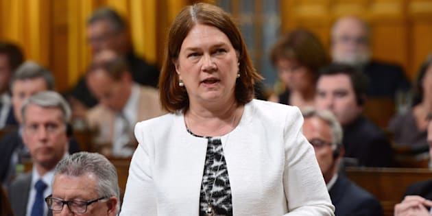 Minister of Health Jane Philpott stands during question period in the House of Commons on Parliament Hill in Ottawa on June 13, 2017.