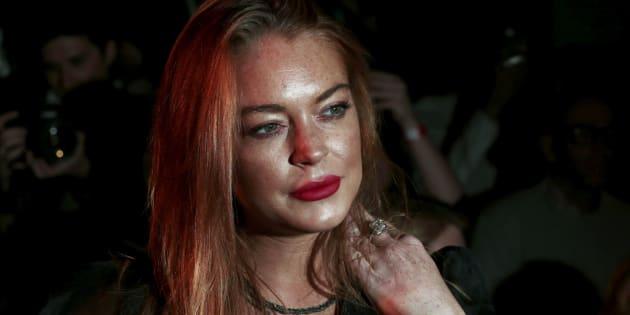 Lindsay Lohan à Londres en 2015.