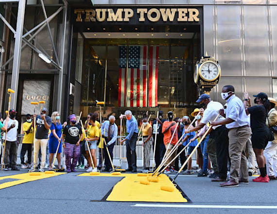 Mayor helps paint 'Black Lives Matter' on NYC street