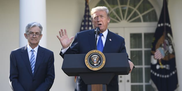 El presidente estadounidense Donald Trump anuncia su nominado para administrar la Reserva Federal Jerome Powell en la Casa Blanca, en Washington (EE UU). SAUL LOEB/AFP/Getty Images