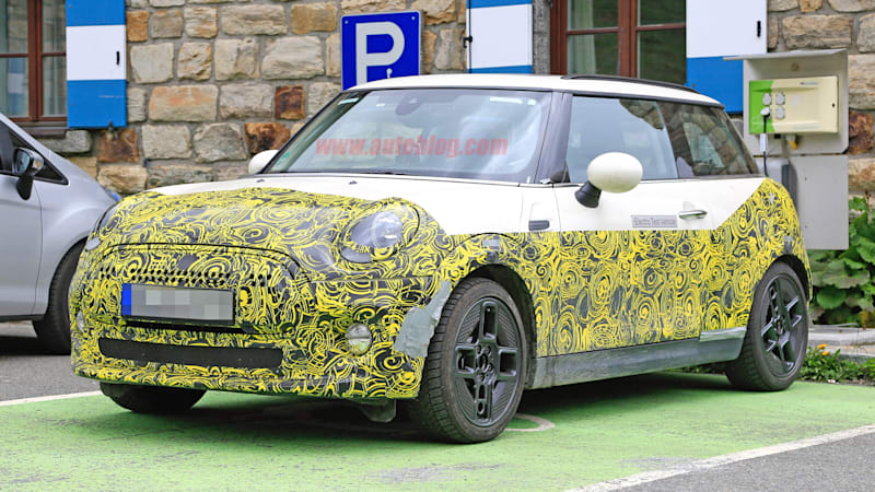 2020 Mini E caught in the Alps with concept looks