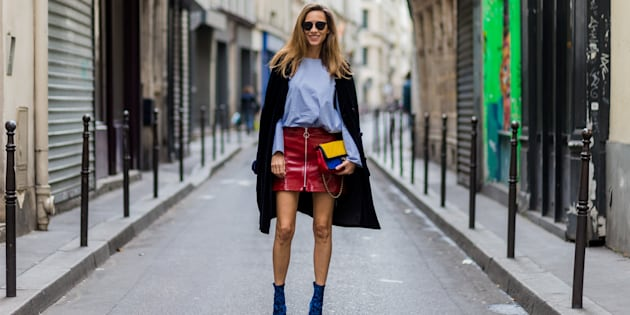 As fashion blogger and model Alexandra Lapp shows us, workwear can still be fun -- just don't show too much skin.