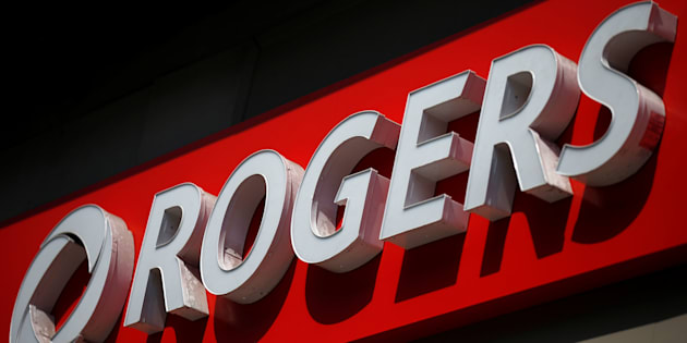 A sign outside a Rogers Communications retail store in Ottawa, July 20, 2017.