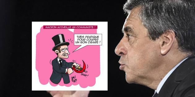 Caricature de Macron: Fillon dénonce un dessin antisémite et réclame des sanctions internes