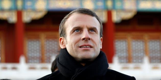 Le président Emmanuel Macron lors de sa visite d'Etat en Chine.