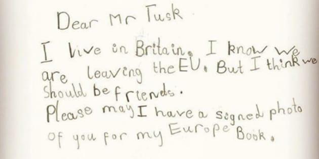 Sur Instagram, Donald Tusk a publié une photographie de l'adorable lettre de la petite Sophie.