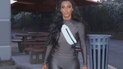 Kim Kardashian a osé ce look hautement