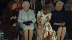 La Regina in prima fila alla London Fashion Week dimostra ancora una volta  che lo stile 8a9ec736d8c7