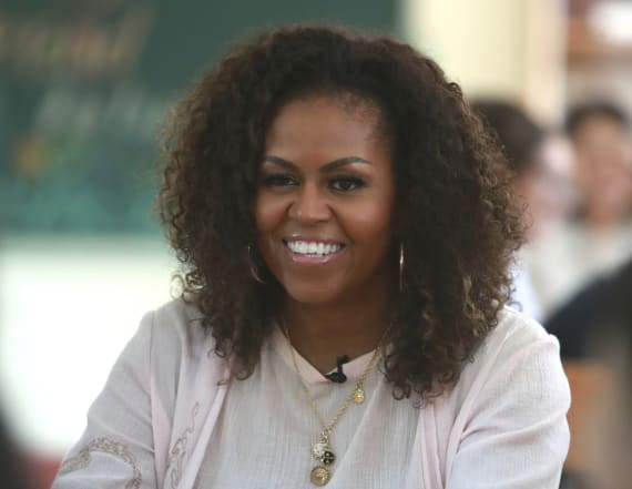 Michelle Obama stuns with a throwback prom pic