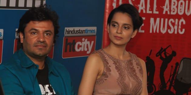 File picture of Vikas Bahl and Kangana Ranaut.