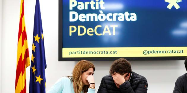 La coordinadora general de PDeCAT, Marta Pascal, y el coordinador organizativo, David Bonvehí.