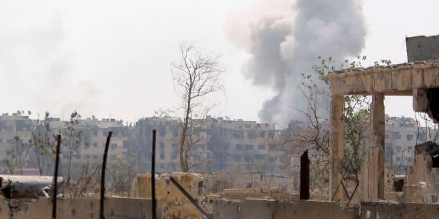 """En Syrie, """"des missiles ennemis"""" tirés sur des """"positions militaires"""" du régime."""