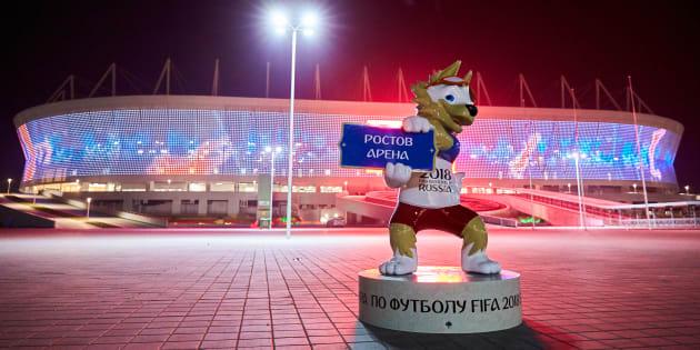 Jogo entre Rostov e SKA-Khabarovsk foi primeiro teste da Arena Rostov, palco da estreia do Brasil na Copa da Rússia.
