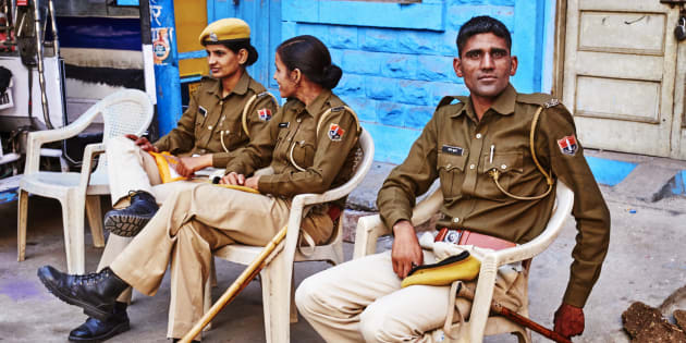 File photo of cops in Jodhpur.