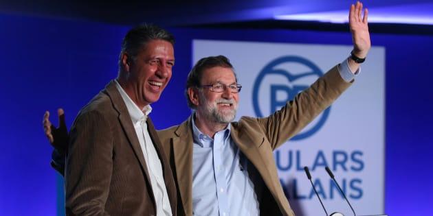 Mariano Rajoy y Xavier Garcia Albiol en un acto del PP en Barcelona. REUTERS/Albert Gea