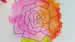 Aquarelle + calligraphie = des compositions