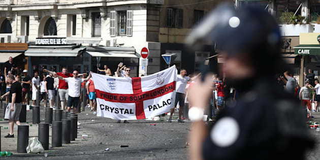 Des supporters anglais à Marseille lors de l'Euro le 11 juin 2016.