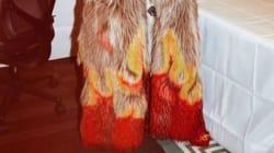 Comme celles sur le manteau de Rihanna, les flammes envahissent les vêtements de votre