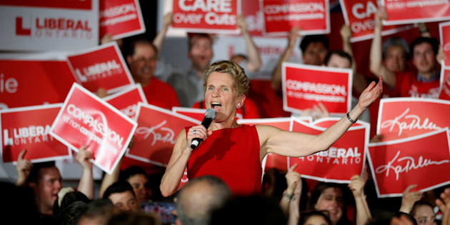 Ontario Liberal leader and Premier Kathleen Wynne speaks during a campaign rally in Ottawa, May 9, 2018.