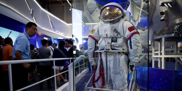 Une réplique de la Station spatiale chinoise Tiangong a volé la vedette lors du Salon d'aéronautique et d'aérospatiale de Zhuhai, en Chine.