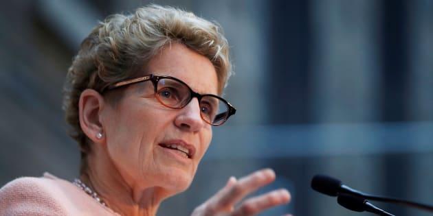 Ontario Premier Kathleen Wynne speaks in Toronto on Dec. 12, 2016.