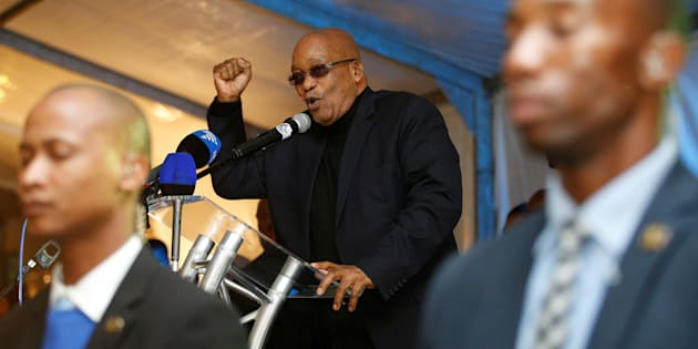 President Jacob Zuma addresses a prayer service in Durban on May 14, 2017.