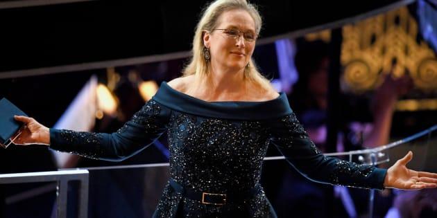 L'actrice Meryl Streep lors de la 89ème cérémonie des Oscars ce dimanche 26 février