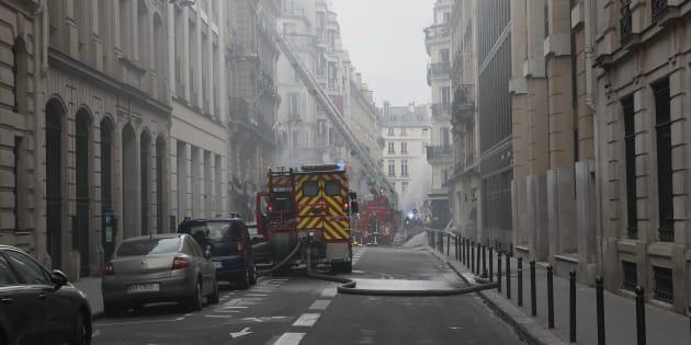 Explosion à Paris: des immeubles pourraient être détruits (Photo prise le 12 janvier 2019).