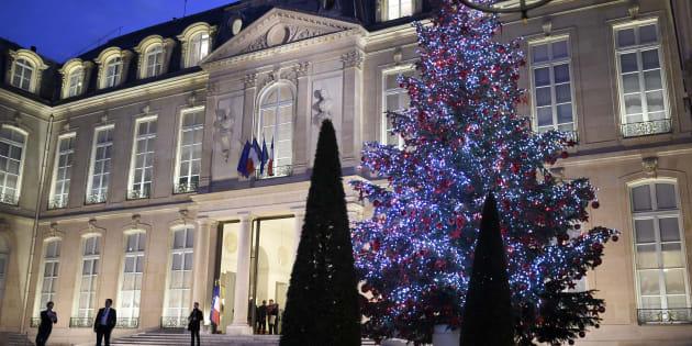 Le Palais de l'Elysée à Paris, le 16 décembre 2016.