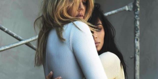 Ce nouveau cliché du shooting de Kim Kardashian avec sa sœur Khloé est encore plus étrange
