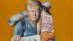 Da potenti a ultimi: l'artista siriano in esilio a Bruxelles dipinge i leader del mondo come rifugiati e