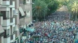 Las impresionantes imágenes de la manifestación por el trabajo en Linares, la ciudad con más paro de