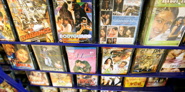 Bollywood movies on display at a video store in Islamabad, Pakistan.