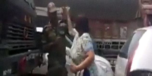 Caught on camera: Gurugram woman repeatedly slaps jawan, arrested
