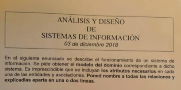 Examen de Análisis y diseño de sistemas de información de Mikel Villamañe.