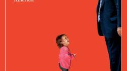 Donald Trump y la niña inmigrante se encuentran cara a cara en la portada de