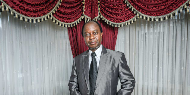 Portrait of Aggrey kiyingi Chairman Uganda Federal Democratic Organisation He was blocked from running as a candidate in the Ugandan Presidential election.
