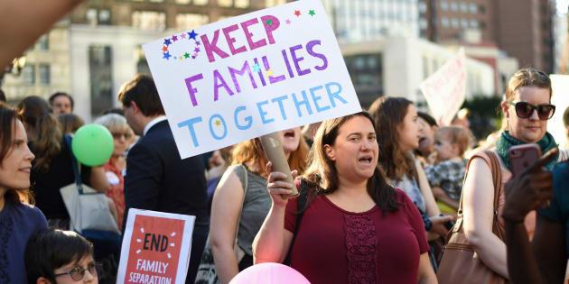 Une manifestation contre la séparation des familles de migrants à New York le 14 juin 2018.