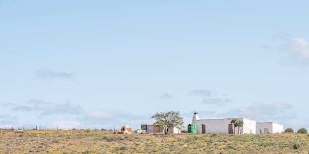 A farm next to the road in the Northern Cape Namaqualand region of South Africa.